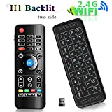 TV Remote, H1 Backlit 2.4GHz Mini Portable Wireless keyboard, H1 Airmouse with touchpad Remote Control Keyboard for PC,Laptop,Mac,Android TV Box, Smart TV,Windows XP