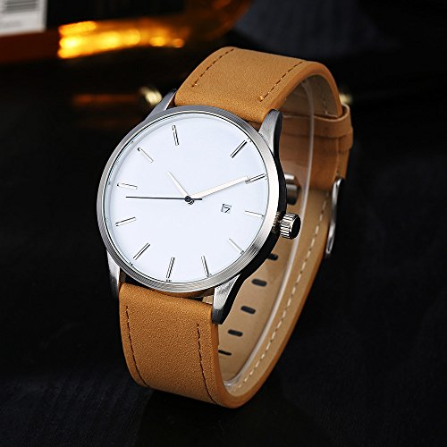 Men's Wrist Watches Analog Watches Quartz Watches Casual Fashion Luxury Business Watch with Leather Band B050