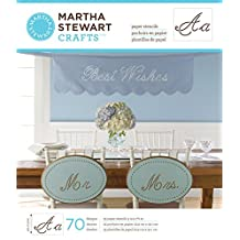 Martha Stewart Crafts Large Paper Stencil (9 by 7.5-Inch), 32985 Script Alphabet (35 Sheets with 70 Designs)