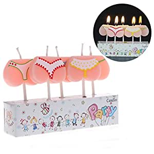 SimpleLife 5 Piece Cake Topper Cartoon Bikini Buttom Velas ...