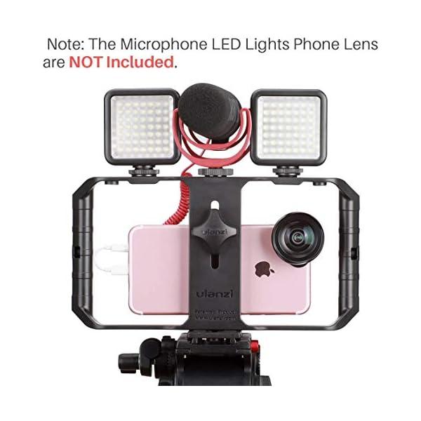 ULANZI u-rig Pro smartphone video Rig palmare iPhone Filmmaking gabbia con 3 Cold Shoe Mount Phone video stabilizzatore per video proiettore Videomaker per iphone 11 pro max x 8 7 Plus Samsung Xiaomi 2 spesavip