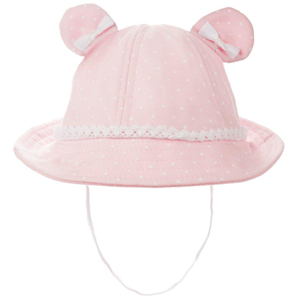 Eriso Baby Girls Toddler Bear Bucket Hat Sun Protection(12-24 Months, Pink)