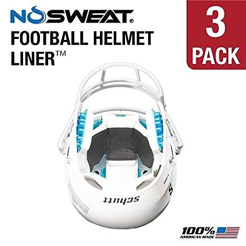 No Sweat Football Helmet Liner & Sweat Absorber (3 Pack)
