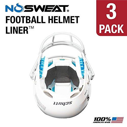 No Sweat Football Helmet Liner & Sweat Absorber (3 Pack) (Football Helmet Inflatable)