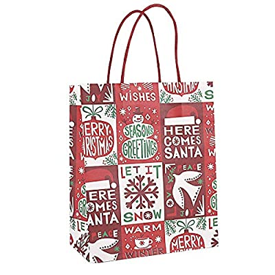 Earthware eco Friendly Bags 4 Style hristmas Cute Kraft Paper Bag 4pcs EC214