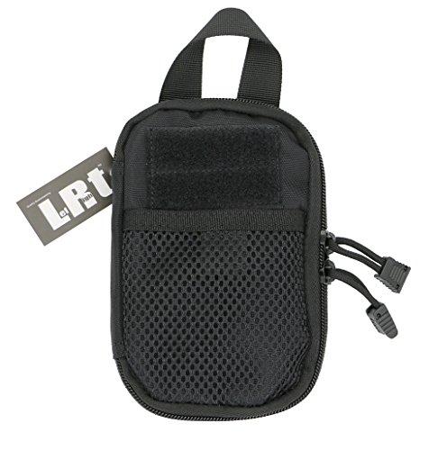LefRight Camo Mini Tactical Molle EDC Compact Pocket Organizer Pouch (Black)