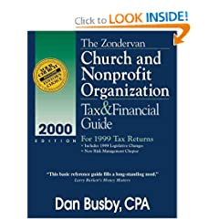 The Zondervan Church and Nonprofit Organization Tax and Financial Guide: For 1999 Tax Returns (Zondervan Church & Nonprofit Organization Tax & Financial Guide)