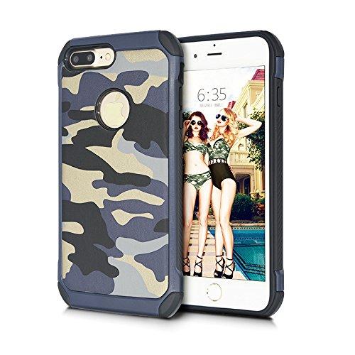 Drop Camo 9 7 Coque hybride High iPhone iPhone TPU 7 Plastique marron nbsp;Coque Impact chocs 11 anti armure robuste Proof et Coque en iPhone Camouflage 7 cuir nbsp;cm marine Coque nbsp; bleu pour ffzwqX