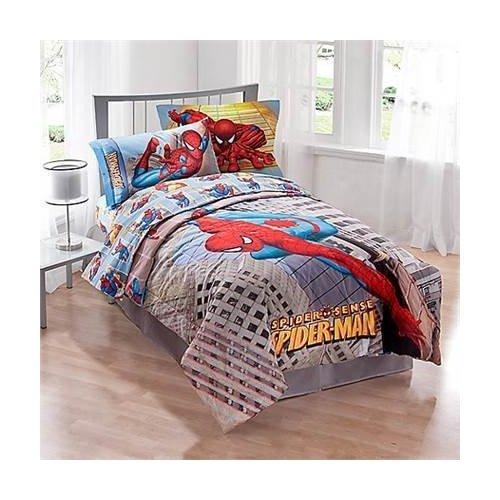 Marvel Spiderman Twin Size Comforter and Sham Set