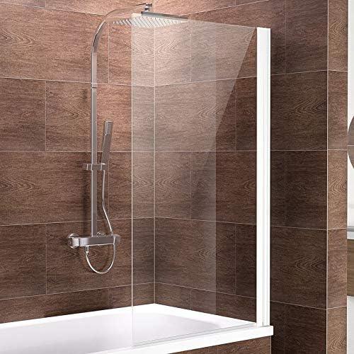 Schulte Mampara de bañera para pegar Cristal 1 piezas 130 x 70,5 ...