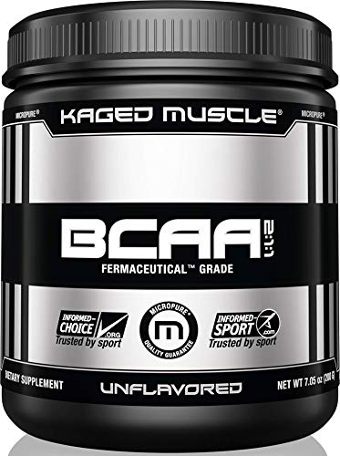 Kaged Muscle, Fermented BCAA Powder, Plant Based, Non-GMO, Protein Synthesis, Vegan Friendly Branched Chain Amino Acids, Aminos, BCAAs, Unflavored, 36 Servings (Stevia Powder Vs Stevia In The Raw)