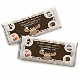 Custom Woodland Creatures - Personalized Baby Shower or Birthday Party Favors Candy Bar Wrappers - Set of 24