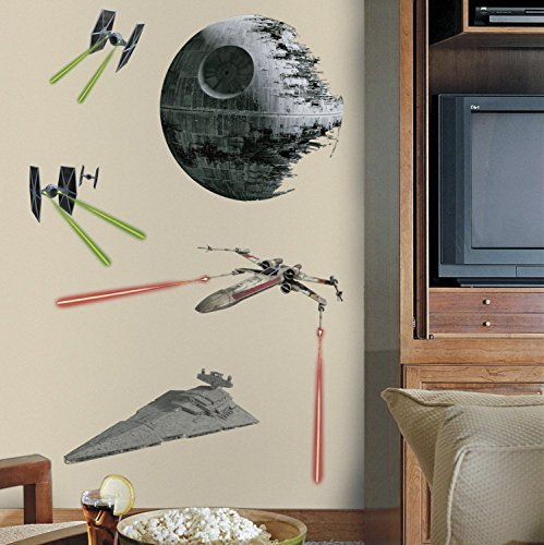 RoomMates Star Wars Classic Space Ships Peel and Stick Giant Wall ()