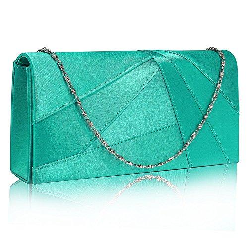 Party Purse 1 Ladies Hard Emerald Look Clutch Evening For Design Designer Satin New Wedding Women Luxury Bag Handbag Case ZAg0nHq