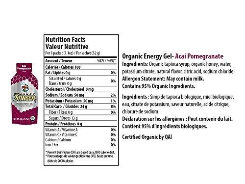 Honey Stinger Organic Energy Gel - Acai & Pomegranate (6 x 1.1oz Packs)