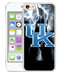 iPod Touch 6 Case ,Southeastern Conference SEC Football Kentucky Wildcats 4 white iPod Touch 6 Screen Cover High Quality Fashionable And Unique Custom Designed Phone Case