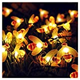 ifOlife Solar Bee String Light Waterproof 21FT 30LED Twinkle Fairy Garden Decor Lights,Outdoor Solar Powered 8-Mode Honeybee Shape String Lights for Patio Lawn Yard Landscape Tree Flower