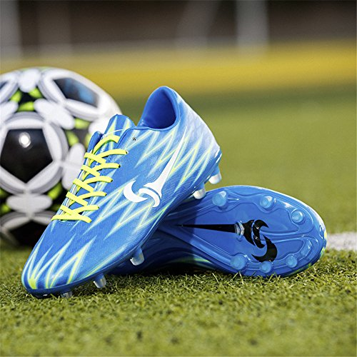 Leader show Mens Performance Football Shoes Fashion Training Athletic Soccer Cleats Blue-ag CcMYAwt