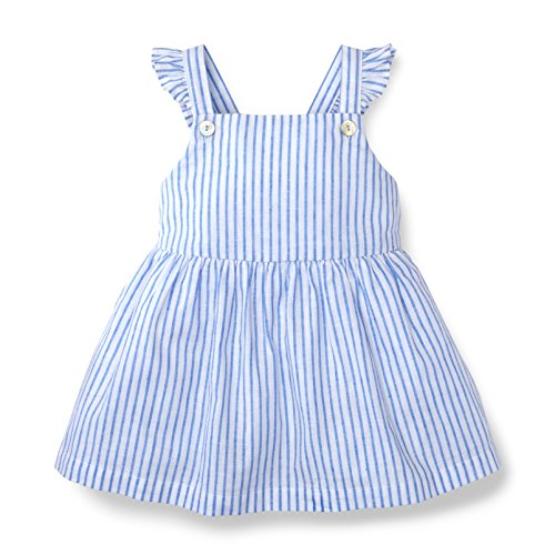 Hope & Henry Girls Blue Apron Top from Hope & Henry