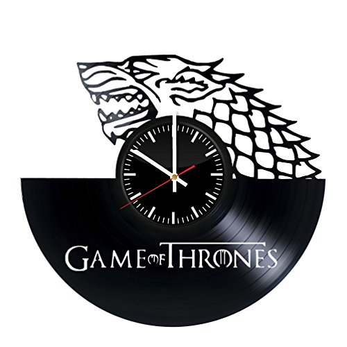 Game of Thrones Vinyl Records Wall Clock - Wall Art Room Dec