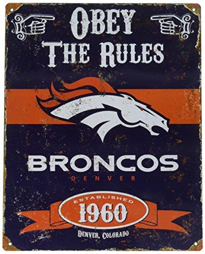 - Party Animal Broncos Vintage Metal Sign