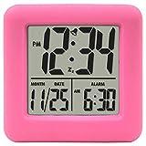La Crosse Technology 70902 Soft Cube LCD Alarm Clock (Pink)