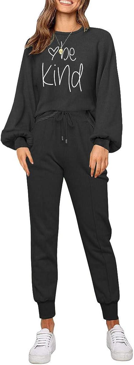 ETCYY Women Sweatsuits Set 2 Piece Outfits Batwing Sleeve Pajamas Set Joggers Workout Yoga Athletic Tracksuit Jumpsuits
