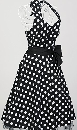 Vintage Damen Ball 50s kurz Kleid Sonnenblume Party Rockabilly ärmellos rrPxdFA