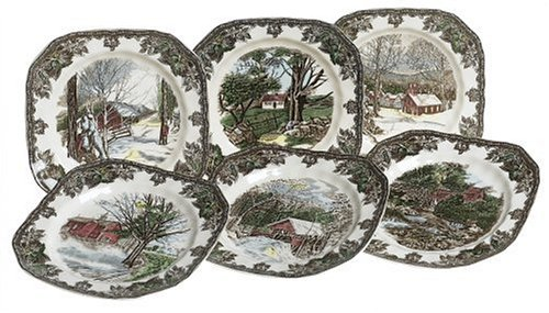 Johnson Brothers Friendly Village Assorted Square Salad Plates, Set Of 6
