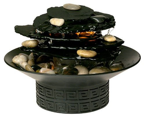 HoMedics WFL-Rock EnviraScape Illuminated Rock Garden Relaxation Fountain
