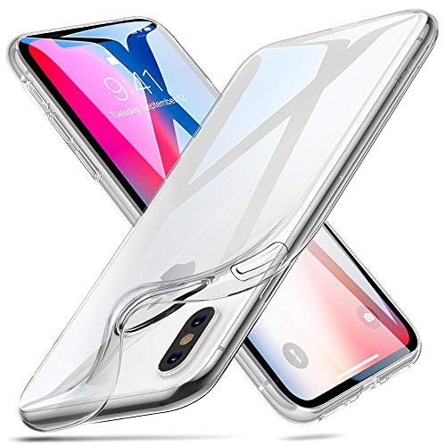 ESR iPhone X Case, 9H Tempered Glass Back Cover [Mimics The Glass Back of The iPhone X][Scratch-Resistant] + Soft Silicone Bumper [Shock Absorption] for iPhone X/iPhone 10(White)