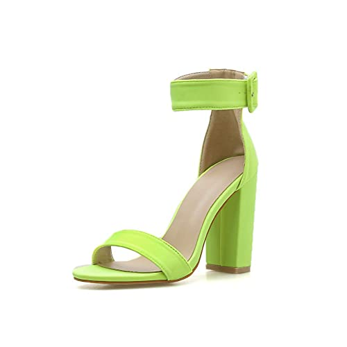 d75ef84337c Amazon.com | Women's Block Chunky Heels Sandals Ankle Strap Open Toe ...