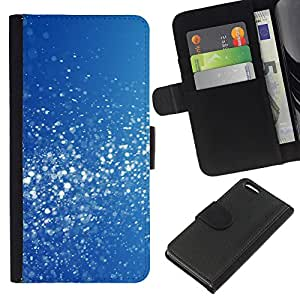[Neutron-Star] Modelo colorido cuero de la carpeta del tirón del caso cubierta piel Holster Funda protecció Para Apple iPhone 5C [Bleu Blanc neige scintillants]