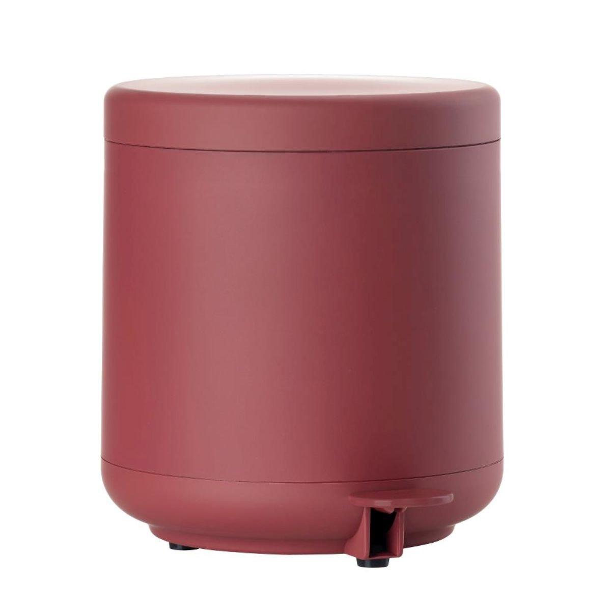 Zone Pedale Secchio di Ume, in plastica con Soft Touch, Maroon Red, Circa 22 cm H | ZO di 381086 | 5708760660407 Circa 22cm H | ZO di 381086| 5708760660407