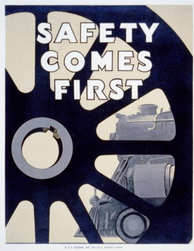 Photo: Safety Comes First,Promoting Safety in the Workplace,c1936,WPA,Locomotive