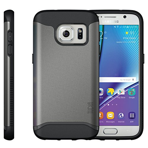 Samsung Galaxy S7 Funda, Caja protectora TUDIA Slim-Fit MERGE de doble capa para Samsung Galaxy S7 ( Rosa) Grafito