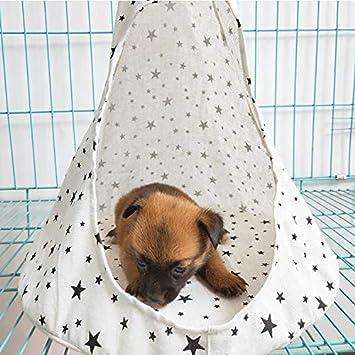 BLEVET Pet Teepee Tent Letto Lavabile Pieghevole Portable Tenda Cuccia Teepee per Cani e Gatti MZ074 S, White Stars