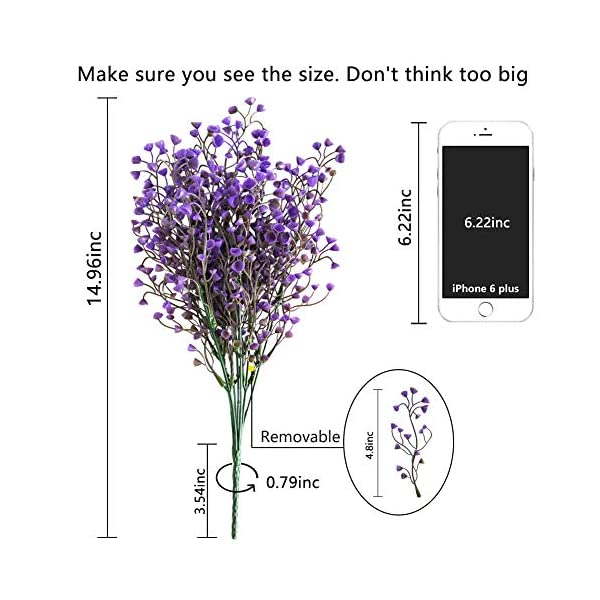 LUCKY-SNAIL-Fake-Flowers-4-Pcs-Artificial-Plum-Blossom-Flowers-Baby-Breath-Plastic-Silk-Flowers-Real-Touch-Blooms-for-Indoor-Outdoors-Wedding-Party-Home-Garden-Decoration