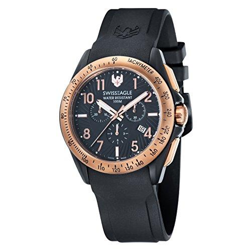 Swiss Eagle SE-9061-05 Mens Tactical Black Chronograph Watch