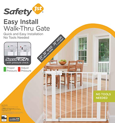 5130DiGC9QL - Safety 1st Easy Install Metal Baby Gate With Pressure Mount Fastening (White), Pack Of 1
