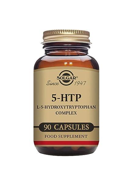 Solgar 5 - HTP (L 5- hidroxitriptófano)  Complejo - 90 cápsulas vegetales - UE - compatible