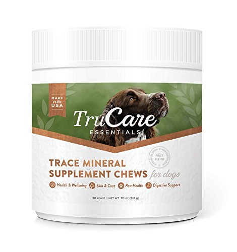 Health 90 Canine Daily Tablets (TruCare Essentials Trace Mineral Supplement Chews for Dogs, 90 Count Jar (Zinc, Biotin, Vitamin A))