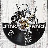 Star Wars Clock Boba Fett Vinyl Record Wall Clock