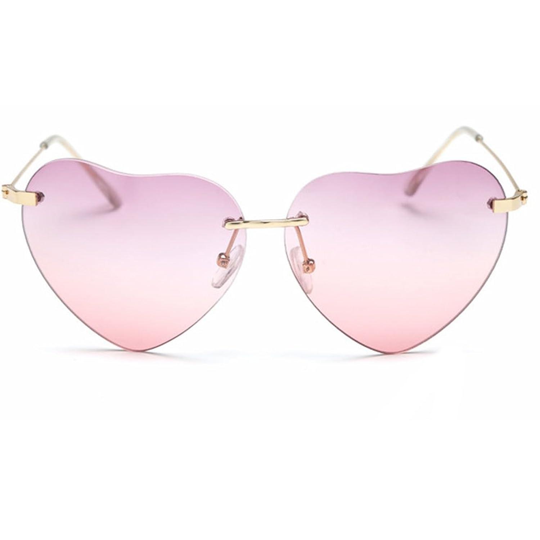Meiruian Retro Women UV400 Heart-shaped Glasses Driving Sunglasses Shades Eyewear