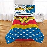 Wonder Woman 5 Piece Comforter & Sheets Bedding Set - Full