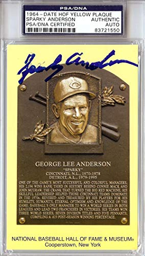 Sparky Anderson Autographed HOF Postcard #83721550 PSA/DNA Certified MLB Cut Signatures
