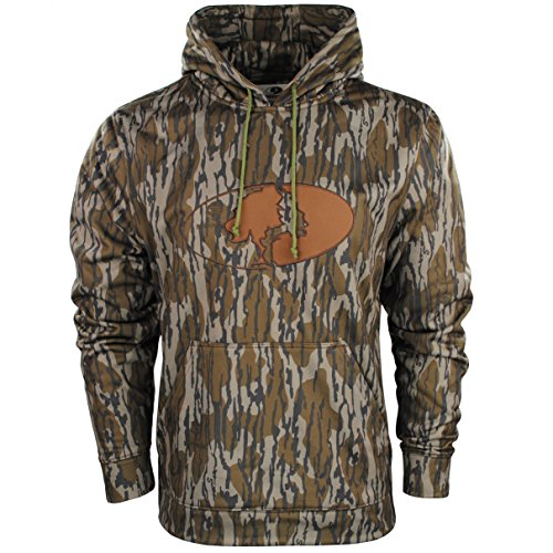 Mossy Oak Men's Performance Camo Logo Hoodie Pullover for Hunting and Casual Wear Available in Multiple Camo Patterns