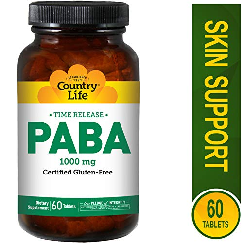 Country Life - PABA, 1000 mg - 60 Time Release Tablets