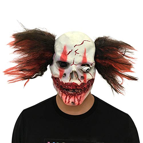 Men's Smiffy Halloween Costume Cosplay Props Scary Clown Mask (Picture -