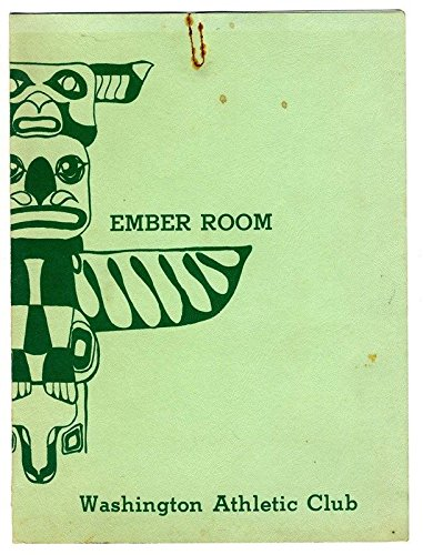 Ember Room Menu Washington Athletic Club 1970's Seattle Totem Pole Cover